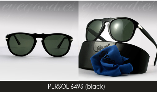 persol 649 black sunglasses