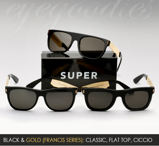 super black gold sunglasses