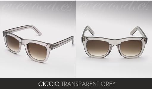 super ciccio grey sunglasses