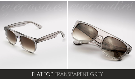 super flat top grey sunglasses