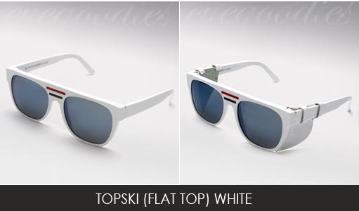 super topski sunglasses white