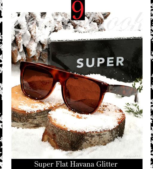 9. Super Flat Havana Glitter Sunglasses