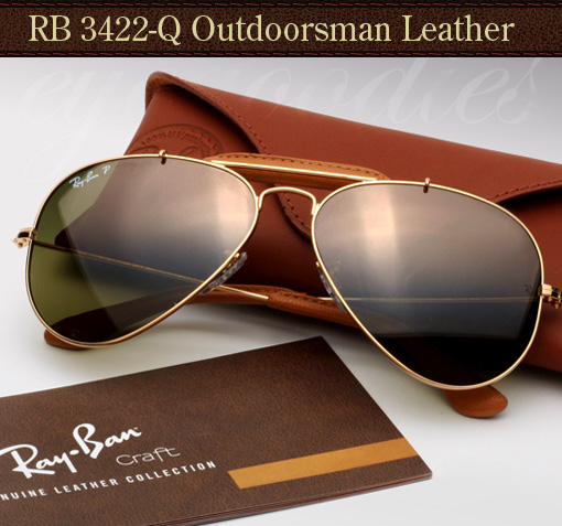 Ray-Ban-3422-Q-leather-Outdoorsman sunglasses