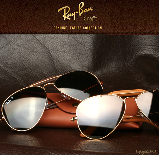 www ray ban com aviator  Ray Ban Craft Leather Sunglasses Outdoorsman Caravan