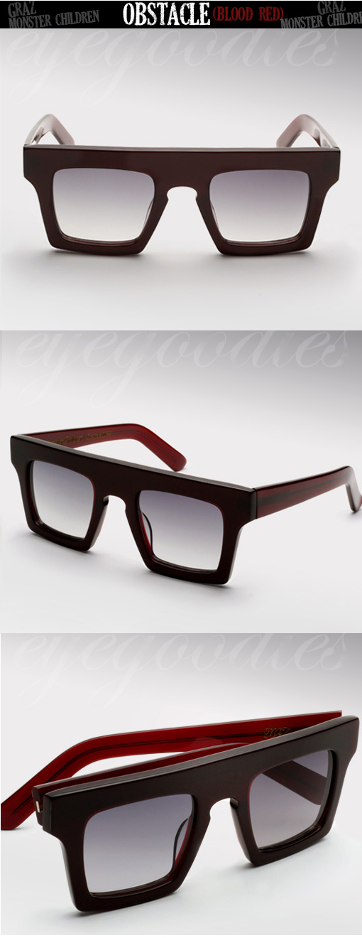 Graz X Monster Children Obstacle sunglasses in Blood Red