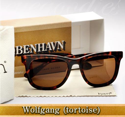 Han Wolfgang sunglasses in tortoise