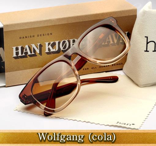Han Wolfgang sunglasses in cola
