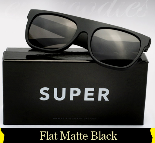 Super Flat Top Matte Black sunglasses