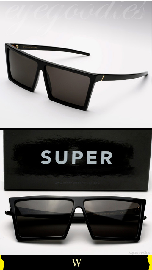 Super W Sunglasses in Black