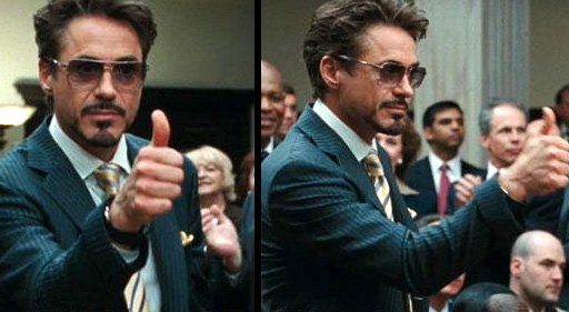 Robert Downey Jr Sunglasses In Iron Man 2