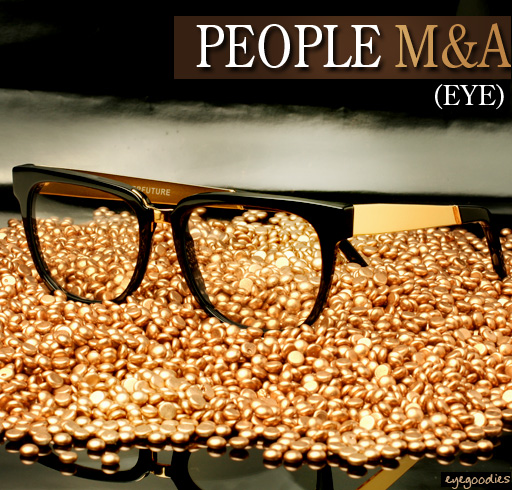 Super People Black & Gold Eyeglasses