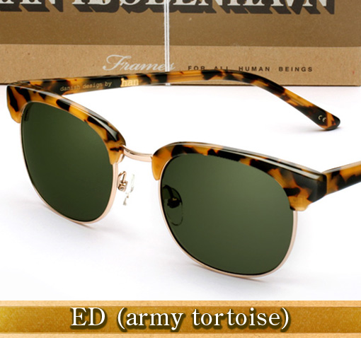 Han Ed Sunglasses in Army Tortoise