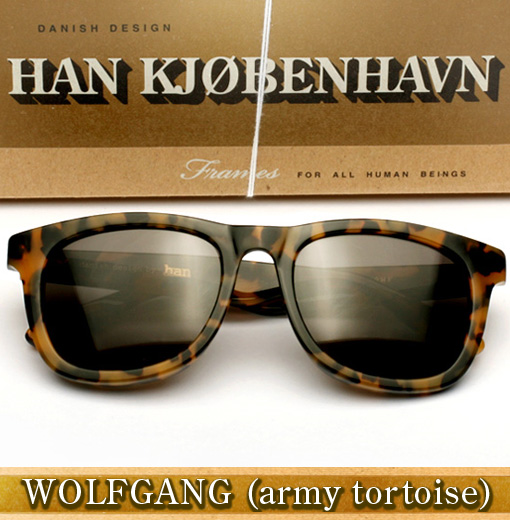 Han Wolfgang Sunglasses in Army Tortoise