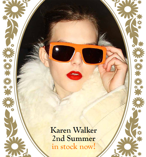 Karen Walker Sol Invictus FLuro Orange sunglasses