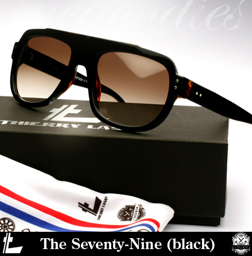 Shop Thierry Lasry The Seventy-Nine Sunglasses (black)