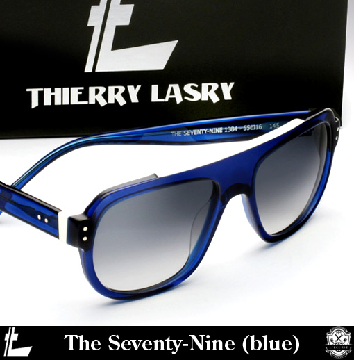Shop Thierry Lasry The Seventy-Nine Sunglasses (blue)