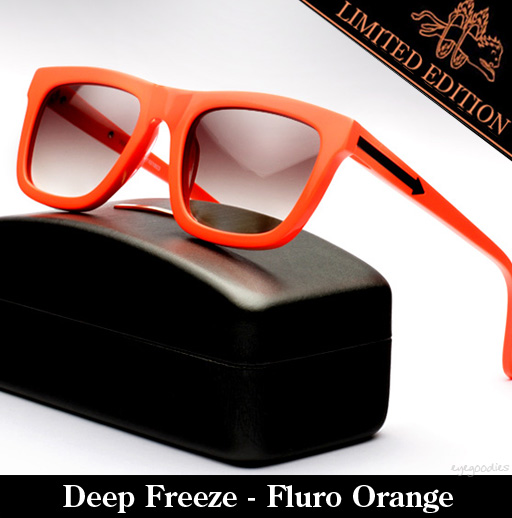 Karen Walker Deep Freeze - Fluro Orange Sunglasses Limited Edition