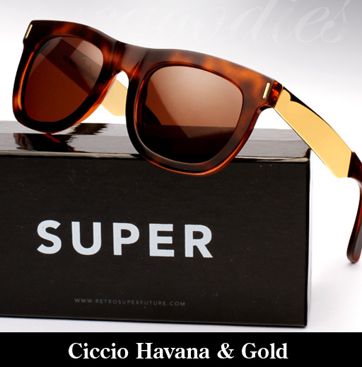 Super Ciccio Havana & Gold Francis Sunglasses
