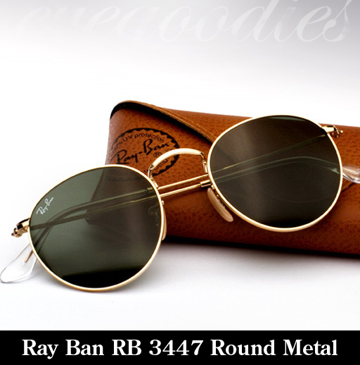 ray ban round eye sunglasses  ray ban rb 3447 round metal sunglasses