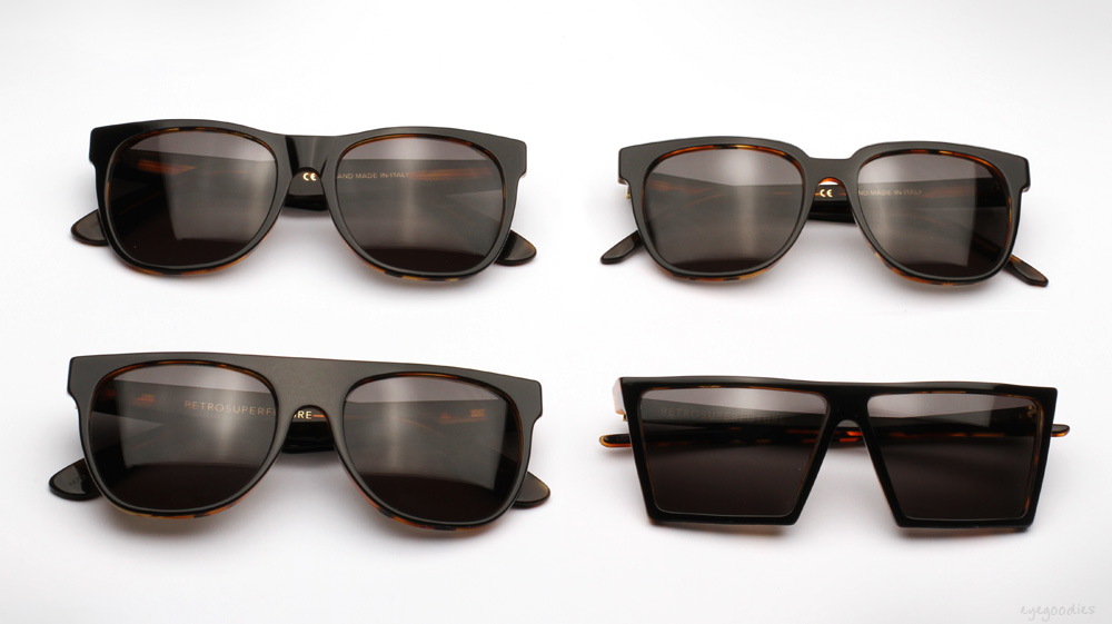 Retro Super Future Black Havana sunglasses