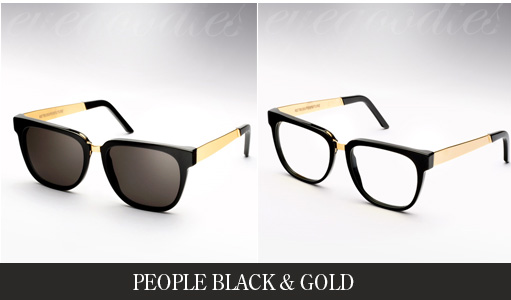 Super People Black & Gold Sunglasses / Eyeglasses