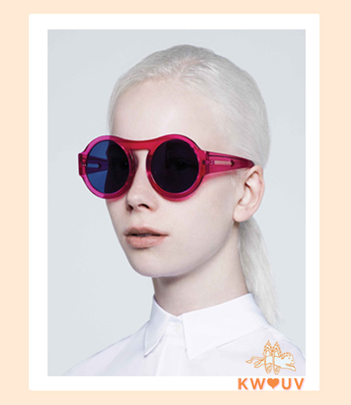 Karen Walker Bunny Sunglasses - Fuschia
