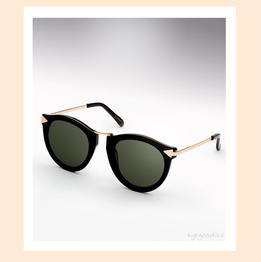 karen walker harvest sunglasses - black & Gold