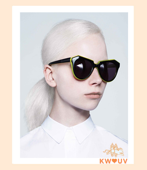 karen walker number one sunglasses - black & yellow
