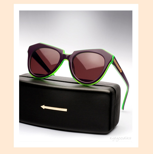 karen walker number one sunglasses - Purple & Green