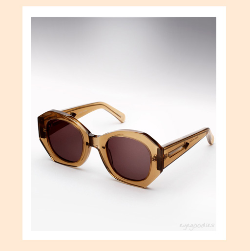Karen Walker Patsy Sunglasses in Crystal Tea Brown