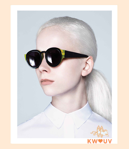 karen walker pegs sunglasses - Black and Yellow