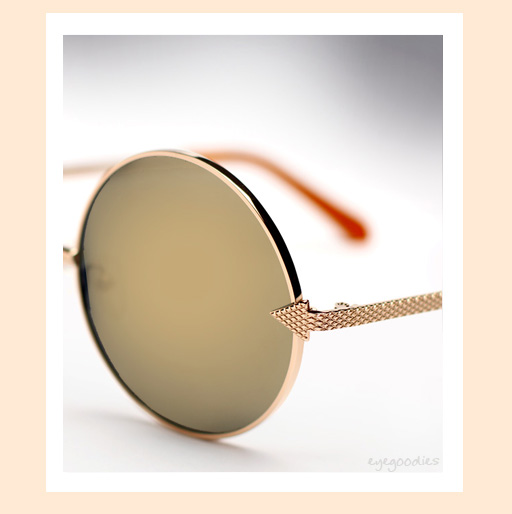 Karen Walker Von Trapp Sunglasses in gold with gold mirror lenses