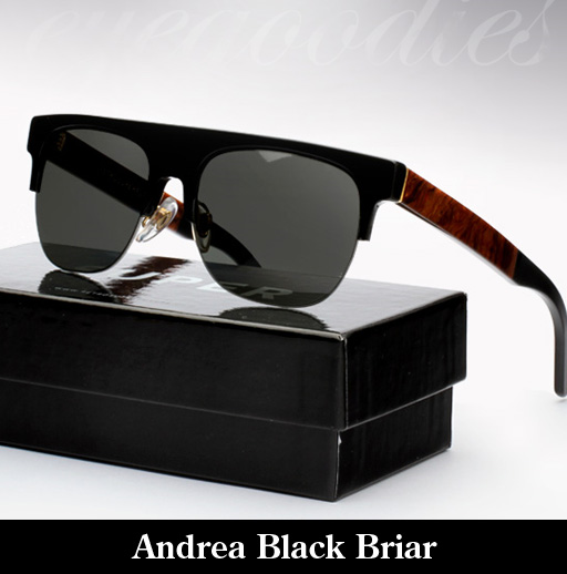 SUPER Andrea Black Briar Sunglasses