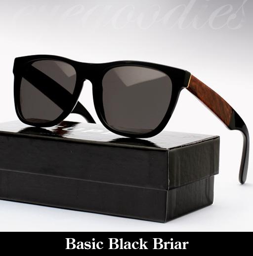 SUPER basic Black Briar Sunglasses