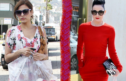 Eva Mendes and Dita Von Teese wearing Thierry Lasry sunglasses