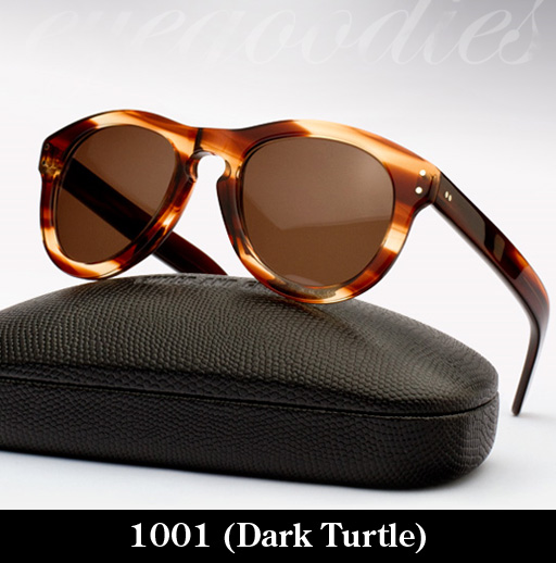 Cutler and Gross 1001 Dark Turtle sunglasses
