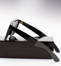 Super Flat Top Laca Sunglasses - Black