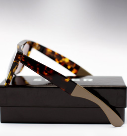 Super Flat Top Laca Sunglasses - Burnt Havana