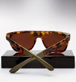 Super Flat Top Laca Sunglasses - Spotted Havana