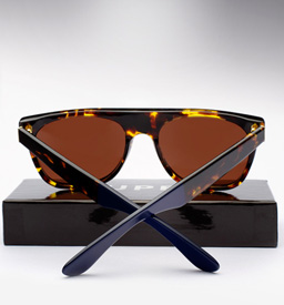 Super Flat Top Laca Sunglasses - Yellow Tortoise