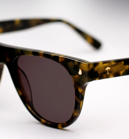 contego the kipling sunglasses - green tortoise
