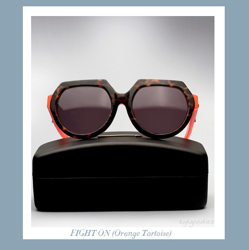 Karen Walker Fight On sunglasses - Orange Tortoise