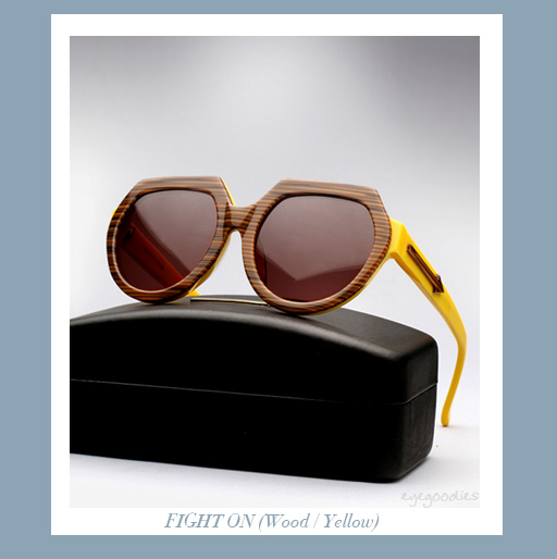 Karen Walker Fight On sunglasses - Wood/Yellow