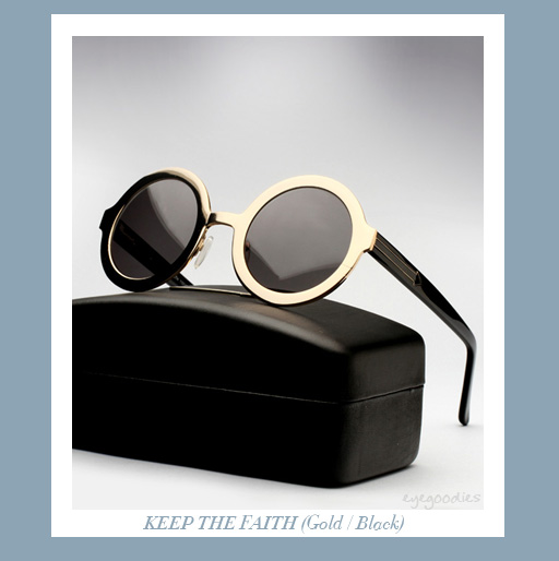 karen walker Keep The Faith sunglasses -Gold/Black