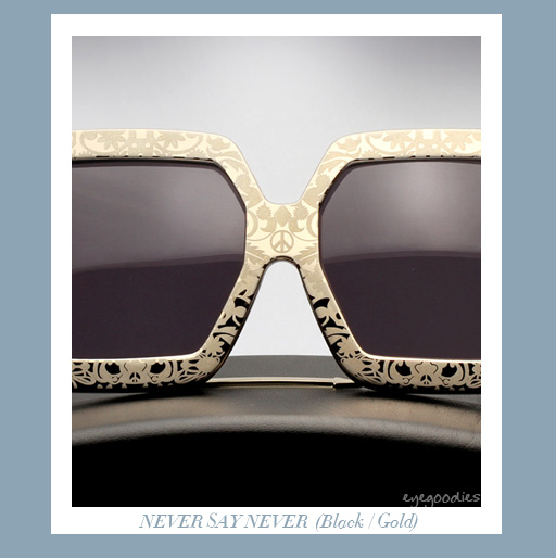 Karen Walker Never Say Never sunglasses -Gold/Black