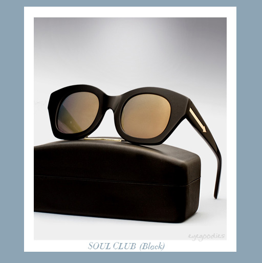 karen walker soul club sunglasses - black