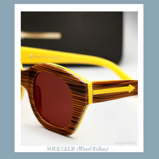 karen walker soul club sunglasses - Wood/Yellow
