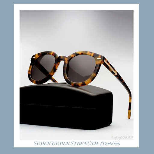 karen walker super duper strengh sunglasses - Tortoise