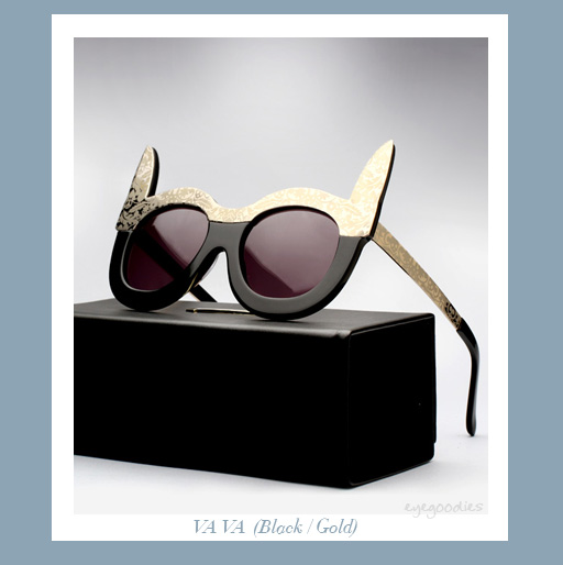Karen Walker Va Va sunglasses -Gold/Black