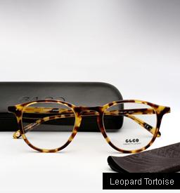 Garrett Leight Hampton Eyeglasses-Leopard Tortoise